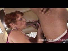 Old mamma doing black cock