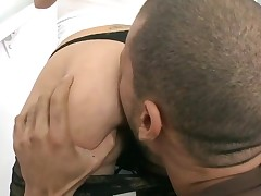 Breathtaking wench with great oiled ass gets her bawdy cleft nailed